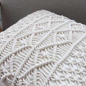 Image 5 - Poduszka poszewka na poduszkę 45cm x 45cm ręcznie tkana nić bawełniana pościel do dekoracji domu i samochodu dekoracja sofy Bohemia poszewka