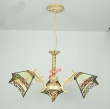 Chandelier Living Room Small Bedroom Tiffany Hotel KTV Bar Hanging Lamp DF60