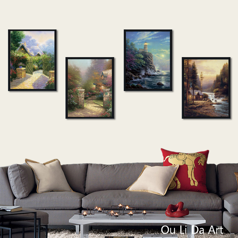 no frame HD Thomas light sea landscape canvas printings oil painting printed on canvas living room wall art decoration picture