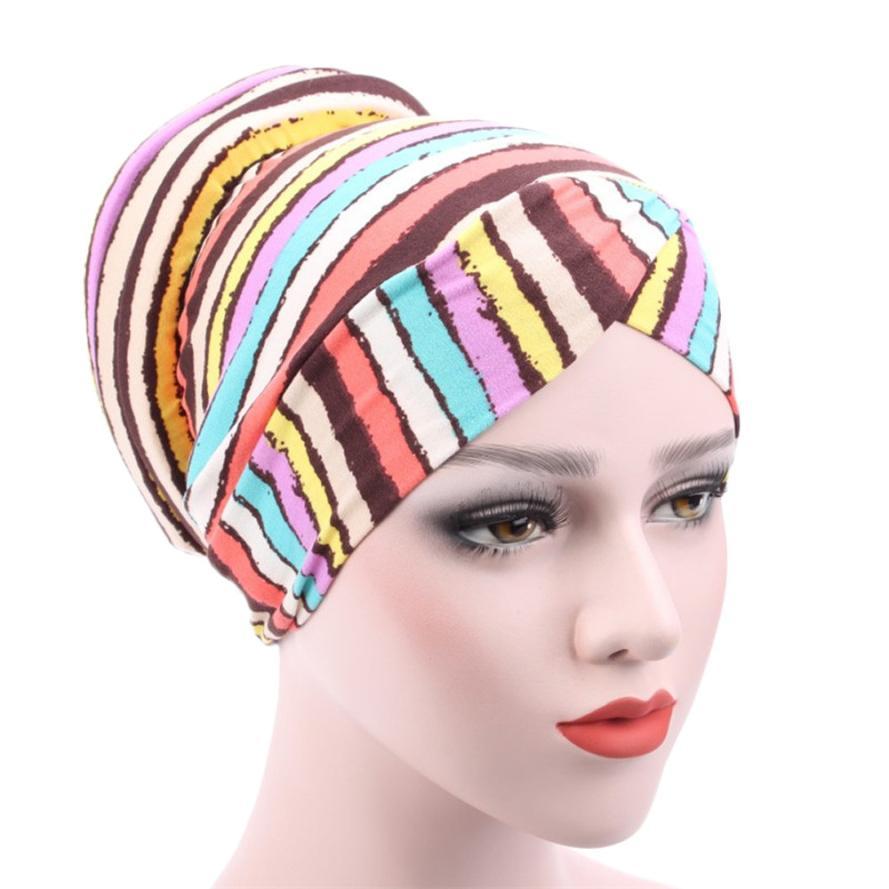 68fc661e Women Muslim Stretch Turban Hat Chemo Cap Hair Loss Head Scarf Wrap Hijib Cap  printing warm winter outdoor hiking caps-in Hiking Caps from Sports ...