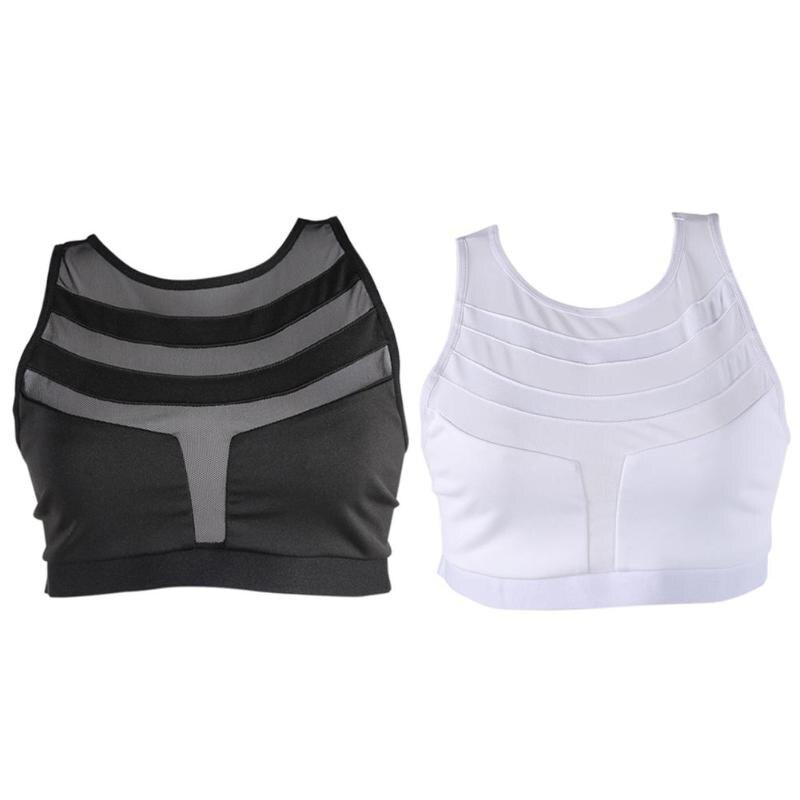 Sexy Backless Sports Bra Top Fitness Bras Women Strappy Brassiere Quick Dry Vest Gym Padded Yoga Bras Push up Running Underwear