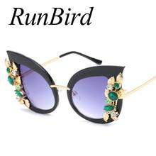 97f2e294c74 New Women Oversized Cat eye Sunglasses Women Diamond New Fashion Brand  Designer Big Frame Ladies Female
