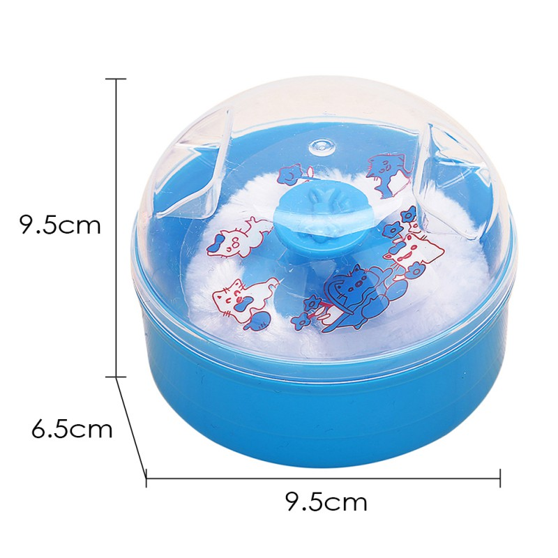 New High Quality Baby Soft Face Body Cosmetic Powder Puff Talcum Powder Sponge Box Case Container 1PCS Wholesale