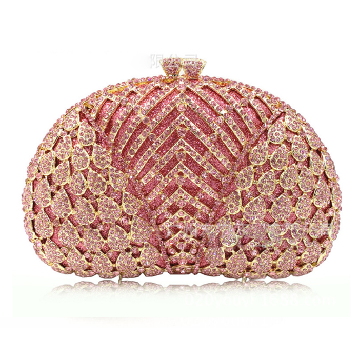Women pink Crystal day Clutches cocktail Evening Bag Bridal black Diamond clutch Purse Wedding Party Prom banquet Handbag lady hot evening bag wedding women austrian diamond aluminium female shinestone banquet wedding party lady beaded prom clutch bags
