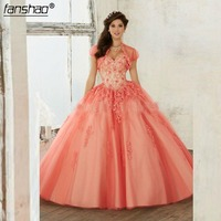 Vestidos Debutante Dark Rose Red Beaidng Sweet 16 Dresses Quinceanera Dresses Ball Gown For Birthday Paty Vestido Para 15 Anos
