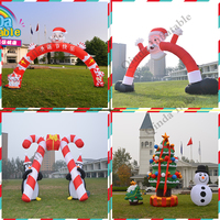 Promotion outdoor customize inflatable santa claus christmas tree arch snowman deerlet car inflatable deer