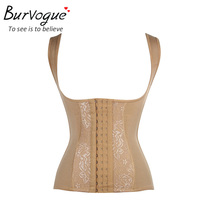 Burvogue Sexy Women Steel Boned Corset With Straps Push Up Corsets And Bustiers Slimming Body Shaper