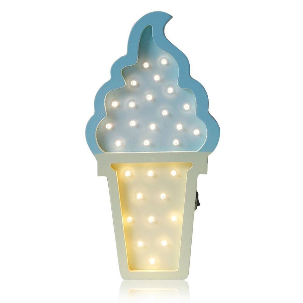 Ice cream Valentine Romance Atmosphere Light , Party Wedding Birthday Party Decoration Kids Room Battery Operated LED