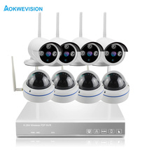 ФОТО Aokwe  arrival 8ch indoor and outdoor DIY IR 720P IP Real p2p WiFi wireless cctv camera WIFI surveillance system