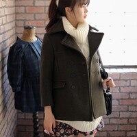 Hot European Fashion Brand Casual Ladies Spring Winter Vintage Dress Woolen Trench Elegant Women S Wool