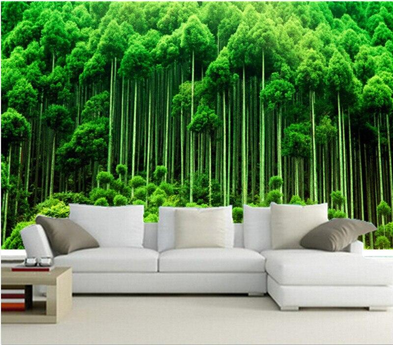 Custom 3D murals,Fresh green woods papel de parede,living room TV wall bedroom 3d stereoscopic wallpaper custom 3d photo wallpaper 3d stereoscopic green forest mural for living room bedroom tv backdrop waterproof papel de parede