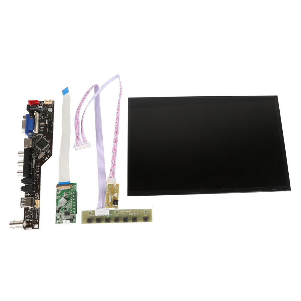 цена на 10.1 Inch 1920*1200 LCD Panel Display Screen VGA+HDMI+AV+Audio+USB+BNC Driver Board Controller Kit For Raspberry Pi etc