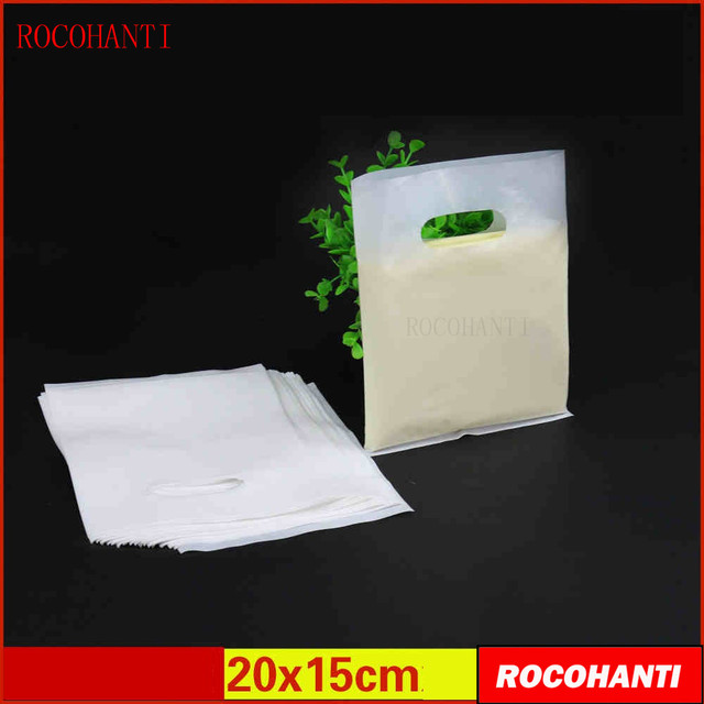 2815f2d233 100x Plastic bag custom small shopping bag jewelry bags customized high  pressure PE new material 20x15cm
