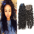 Brazilian Virgin Hair With Closure Brazilian Water Wave With Lace Closure Wet And Wavy Natural Water Wave 3 Bundles With Closure