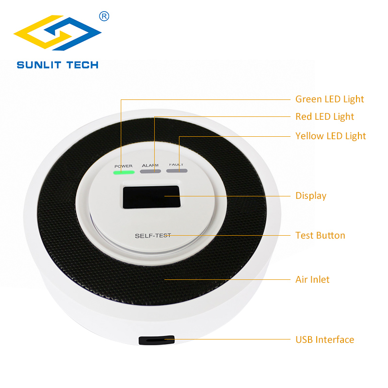 Natural Gas Detector Household Combustible Gas Leak LPG Gas Detector Sensor Home Security Alarm System With Digital Display 12v combustible gas leak lpg natural gas detector propane alarm for rv van boat home alarm system security