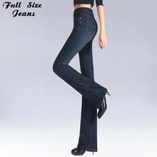 Spring Slim Fit Plus Size Flare Jeans M Waist Stretch Skinny Jean Vintage Bell-Bottom Pants Denim Trousers Xxl 4Xl 5Xl Xs 6Xl