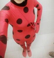 Women Sexy Spandex Ladybug Costume Red Cat Suit Adult Miraculous Ladybug Cosplay Costume