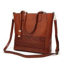 Мода О женщины сообщение сумки натуральная кожа сумки женские известные бренды Лето 2017 г. качество выдалбливают сумка Bolsas