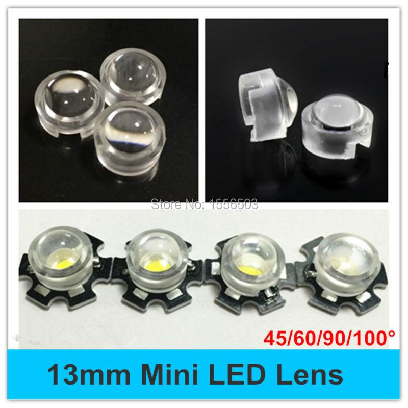 50ps 90°High Power LED lens 23mm convex lens pmma led lens with black holder DIY