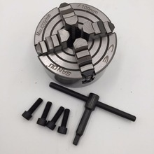 """Reversible Independent 125mm Lathe Chuck 4Jaw 5"""" CNC Machine Tool 4-M8 Four Jaws CNC Metalworking Tool Accessory"""