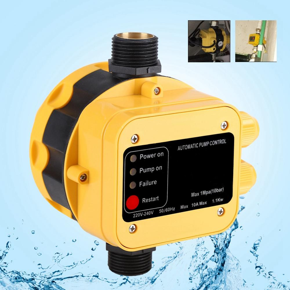 1 Pcs 220V Automatic Water Pump Pressure Switch 10A Electric Controller with Gauge Home Accessory 1