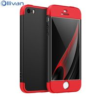 10pcs/lot Wholesale Ollivan 6 s full protection case for iphone 6 case 360 degree 3in1 Hard PC cover for iphone 6s 6 plus case