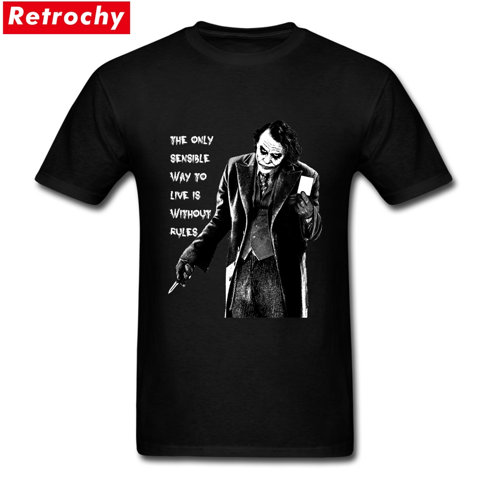 2017 Ultima Loose Fit Mens The Joker Preventivo T-Shirt Personalizzate stampato Maniche Corte In Cotone Graphic Estate Cool T-Shirt per uomini