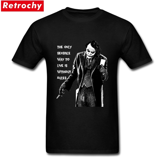 db7e9844430 2019 Latest Loose Fit Mens The Joker Quote T-shirts Custom Printed Short  Sleeves Cotton Graphic Summer Cool T Shirts for Men
