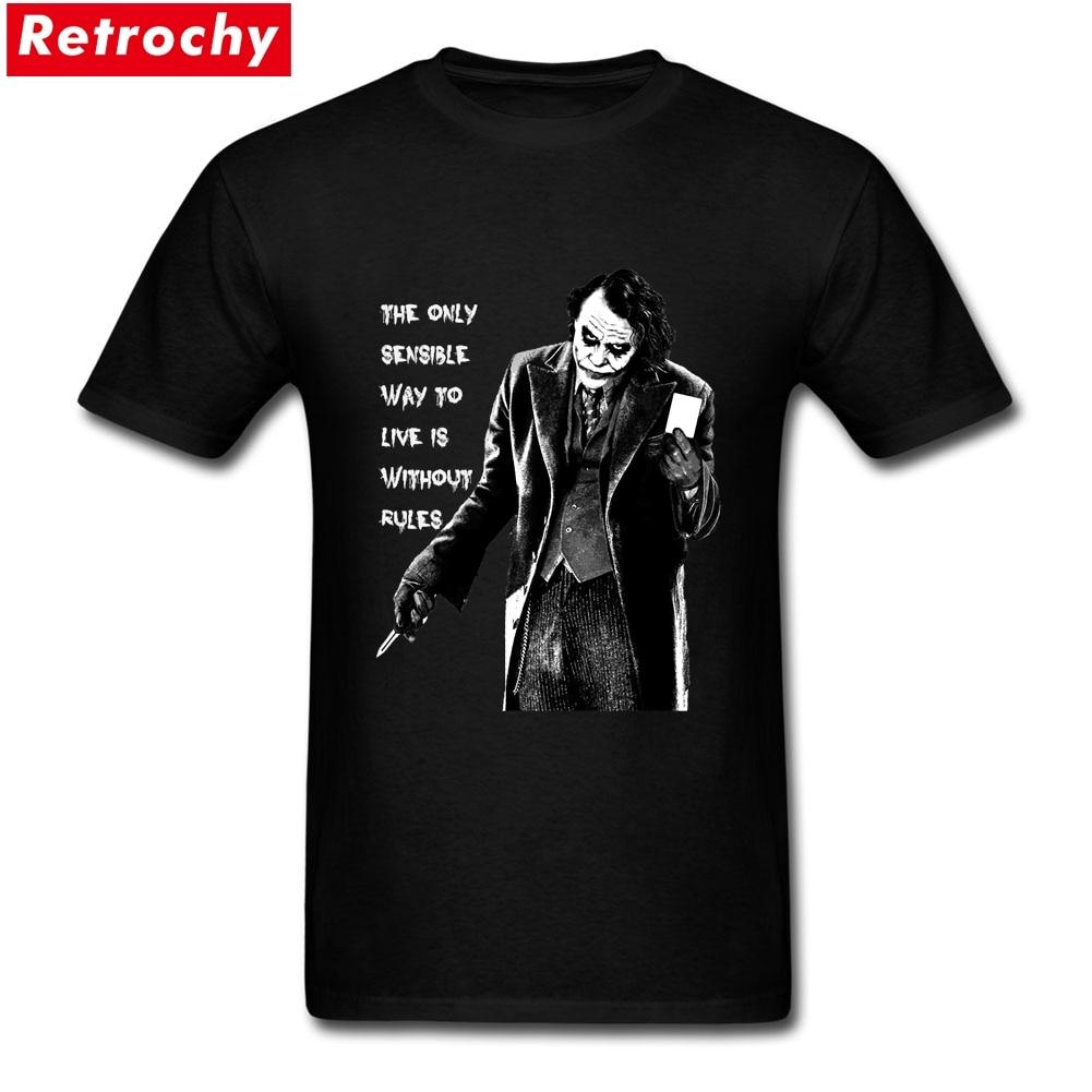 11 49 43 De Réduction 2019 Dernière Coupe Lâche Hommes Le Joker Citation T Shirts Personnalisé Imprimé Manches Courtes Coton Graphique été Cool T