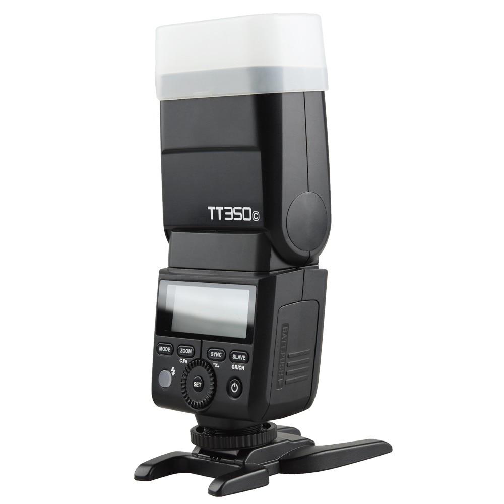 Godox TT350C 2.4G HSS 1/8000s TTL GN36 Wireless Speedlite Flash for Canon EOS M M2 M5 M6, for Canon Cameras 5D Mark III 80D 70D petlas ta60 13 6 36 8pr tt