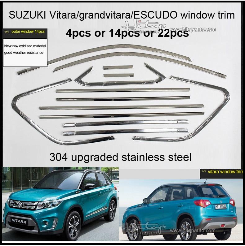 2016 coche accesorios parte inferior de la ventana de acero inoxidable borde 14pcs para Mazda CX-5 2012 Umbral de la parte superior