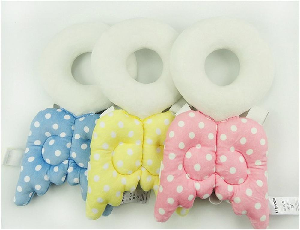 2018 New Style Baby Head Protection Pad Infant Toddler Protective Headrest Cute Angel Child Safety Hat Drop Pad