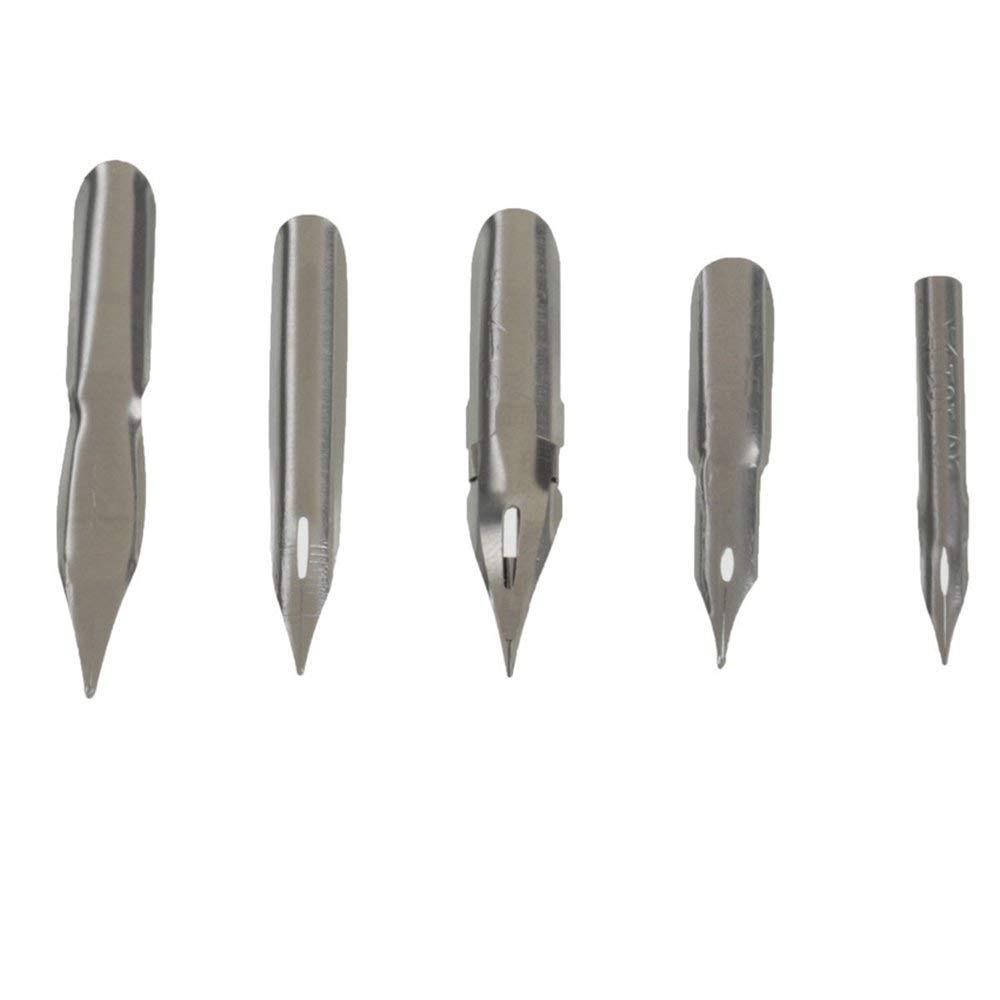 2 Nib Holders /& 5 Nibs /& 1 Drawing Eraser MyLifeUNIT Cartoon Comic Dip Pen Set