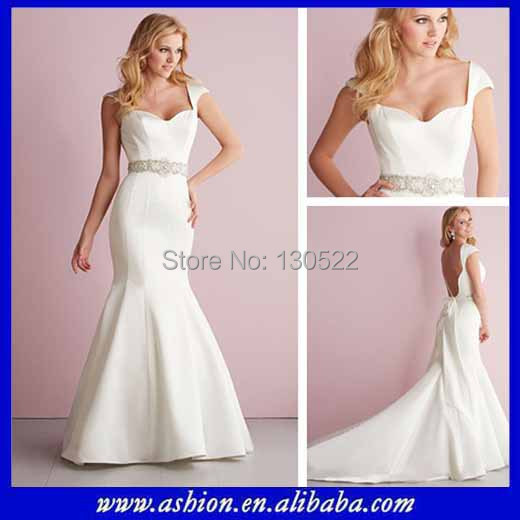 Free Shipping We 2351 Satin Sweetheart Y Mermaid Maternity Wedding Dresses With Sleeves Whole
