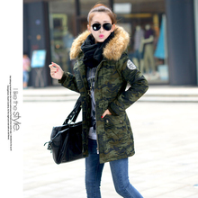 Cotton Padded Winter Jacket Women Nice New Fashion Long Slim Thick Women's Winter Jacket Hooded Fur Collar Coat Female AW1126