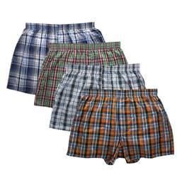 Классический плед 4 шт. Для мужчин s Нижнее белье Боксеры свободные шорты Для мужчин трусики хлопок удобные мягкие брюки со стрелками