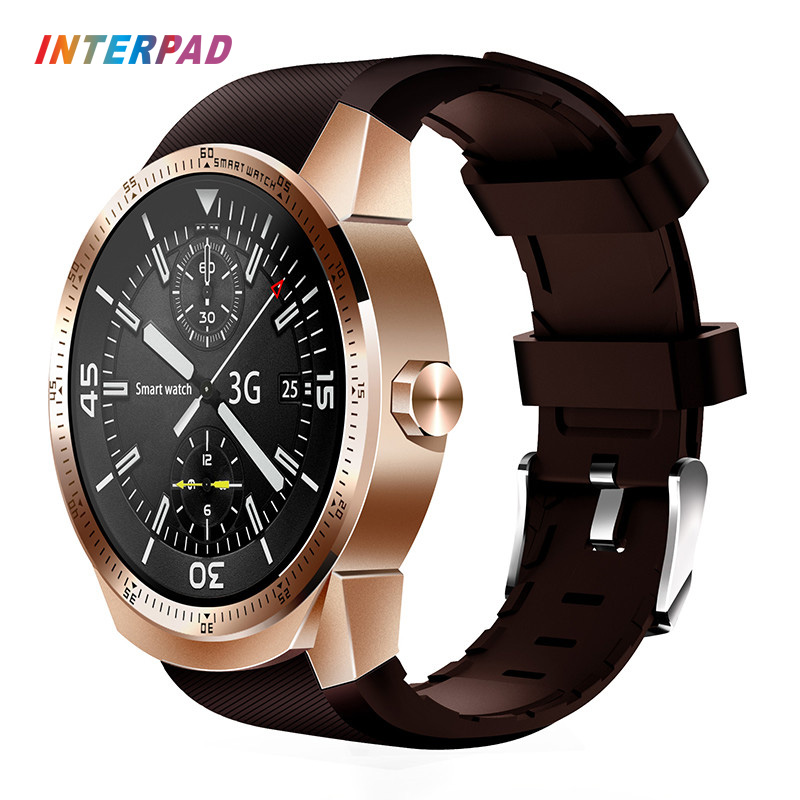 2017 Interpad 3G Smartwatch Android 4.1 MTK6572A 4GB ROM Phone Clock Bluetooth GPS Smart Watch For Windows Android iOS Phone interpad dm98 smart watch big screen 2 2 inch ips hd huge 900mah battery android phone clock support gps wifi sim smartwatch