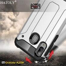 For Samsung Galaxy A20E Case Silicone TPU Armor Hard PC Back Phone Cover
