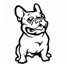 LOVELY CUTE French Bulldog Dog Car Sticker PET Cars Decal Weatherproof Auto Styling Stickers Accessories For Body Rear Trunk