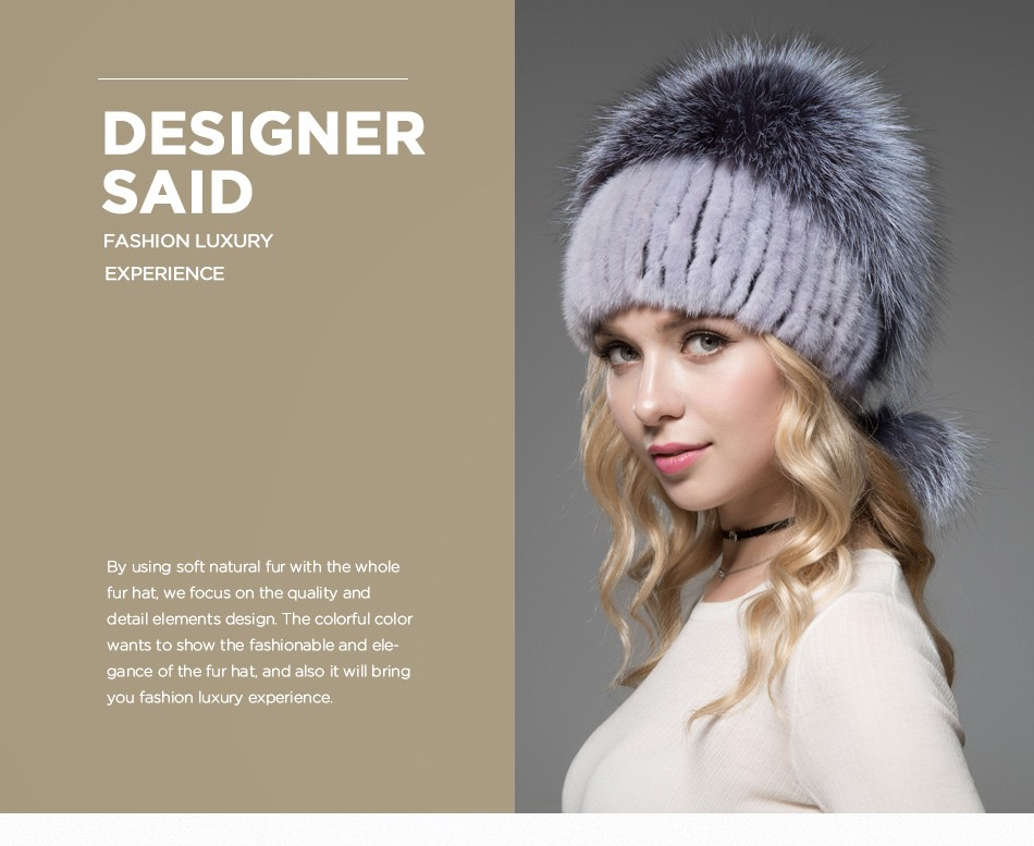 fur woman winter hats PCM012 (2)