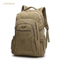 40 Litre Backpacks Canvas Men Large Backpack Laptop Huge Travel Bag Large Capacity Travel Bags Multifunctional