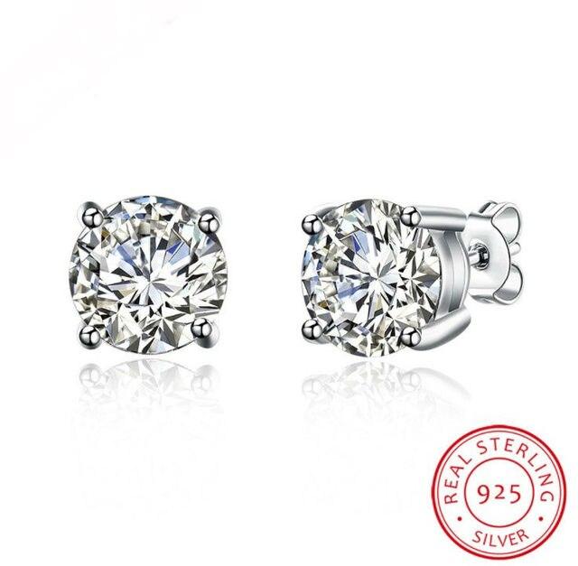 ea9ca3647697b0 2019 New 925 sterling silver 100% oryginalne kryształy Swarovskiego Bella  Mini Piercing kolczyki kolczyki Party