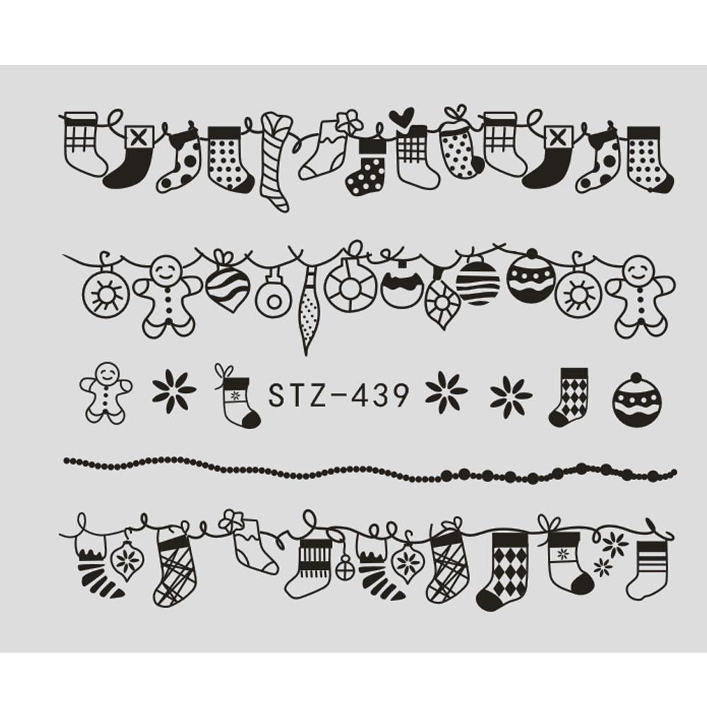 1 blatt Wasser Nagel Aufkleber Weihnachten Design Temporäre Tattoos ...