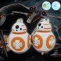 Новый Звездные войны The Force Пробуждает Bb8 Bb-8 Droid Robot Led Брелок Фигурку Штурмовик R2D2 Клон Ремешок Игрушки Подарки