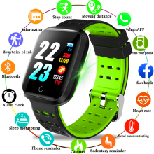 Купить с кэшбэком New Waterproof Sport Smart Watch Bluetooth Bracelet Fitness Pedometer Tracking Blood Pressure Heart Rate Monitor Smart Wristband