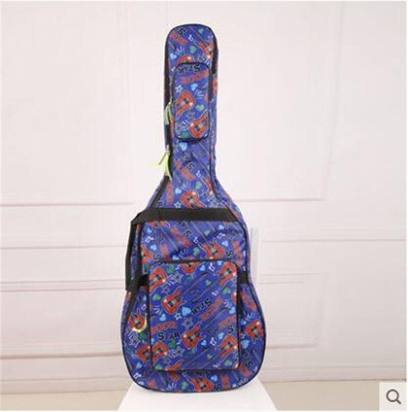 40 41 Zoll Folk Gitarre Akustische Wasserdicht Gepolsterte Dicken Guitarra Rucksack Case Gig Abdeckung Musikinstrument Teile Zubehör SchöN In Farbe