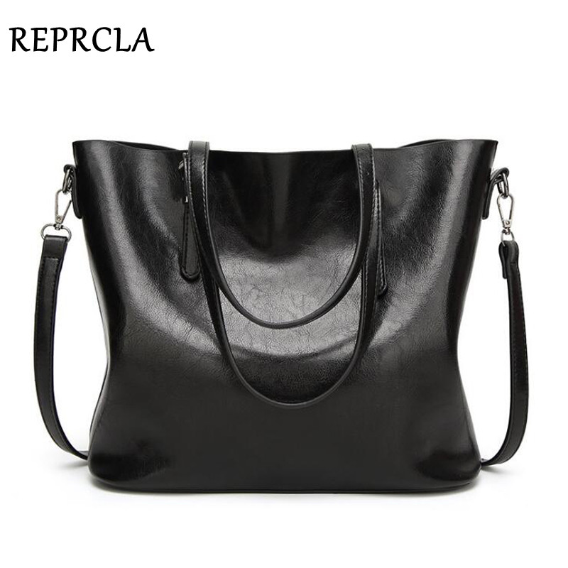 REPRCLA High Quality Women Bag PU Leather Handbags Top-handle Bags Tote Fashion Shoulder Bags Designer Crossbody Large Capacity fashion women handbags with two straps high quality pu leather top handle tote bag female large capacity shoulder messenger bags