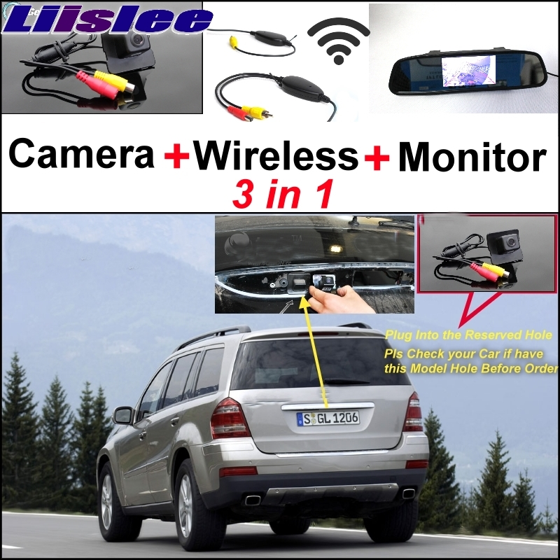 Liislee For Mercedes Benz MB GL X164 GL 350 450 550 Special Original Hole Camera Wireless Receiver  Mirror Screen Parking System mirror cover mirror housing with blinker lamp for mercedes benz w204c160 c180 c200 c220 c230 c240 c270 c280 c320 c350 2128100864