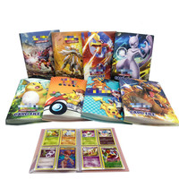 Pikachu Collection 120 Pokemon Cards Album Book French Card Holder Note Hold Playing Pokemon Action Figure