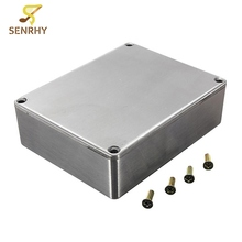 1590 Series 1590BB Silver 2mm Thickness Aluminum Case Stomp Box Effects Pedal Enclosure Guitar Effects Pedal Guitar Accessories